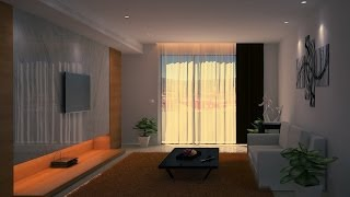 3D Timelapse Living room modeling - 3ds max\Zbrush\Photoshop