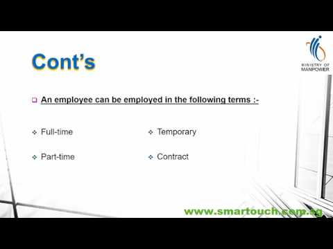 Payroll Singapore : Singapore Employment Act Introduction