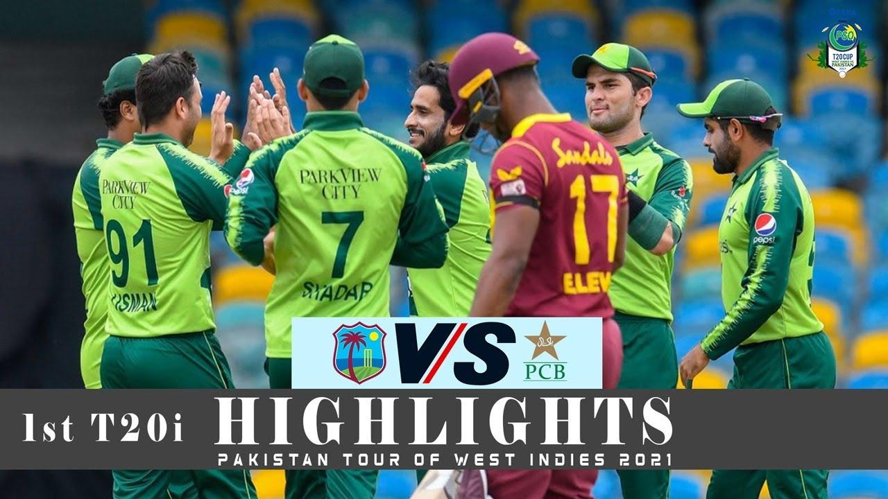 West Indies vs Pakistan Highlights   1st T20i   Pakistan tour of West Indies 2021