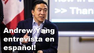 Andrew Yang explica sobre Medicare para todos, ingreso básico universal, el transporte público.