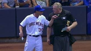 CIN@MIL: Counsell gets ejected in the 8th inning