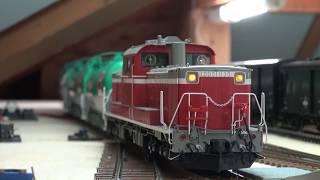 DD51牽引タキ1000貨物(鉄道模型OJゲージ)