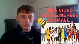 British Guy Reacts to Basketball - Height Comparisons of NBA Players