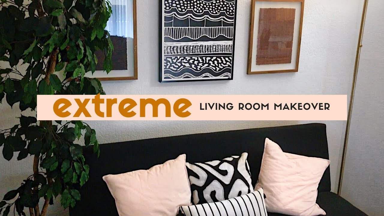 EXTREME APARTMENT LIVING ROOM MAKEOVER