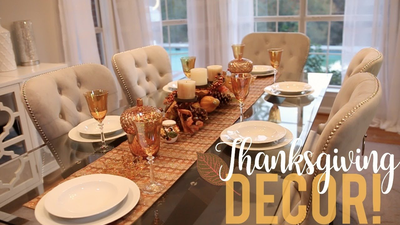 Thanksgiving Decor My Tablescape Youtube