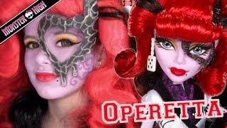 Operetta Monster High Doll Costume Makeup Tutorial for Cosplay or Halloween
