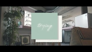 Cover images Tielle - trying | Official Lyric Video