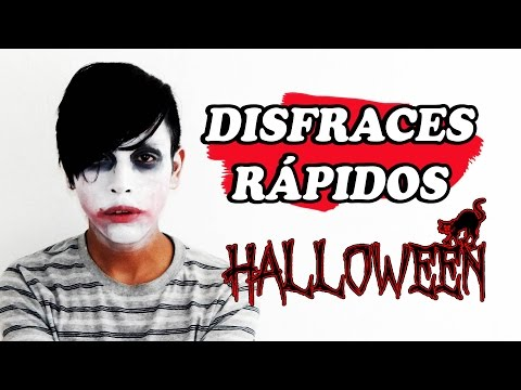 DISFRACES FÁCILES PARA HALLOWEEN | FÁCILES Y RAPIDOS, JOKER, SAW | DALUXS