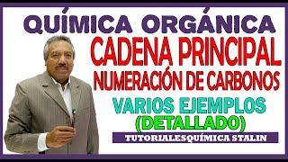 QUÍMICA ORGÁNICA - CADENA PRINCIPAL Y NUMERACIÓN DE CARBONOS