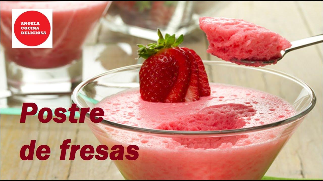 C mo hacer postre de fresas how to make strawberry dessert - Como hacer zumo de fresa ...