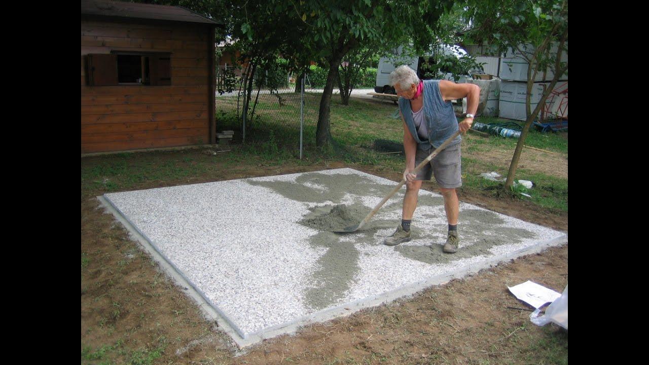 Come costruire il basamento per la tua casetta in legno - Case di legno da giardino ...