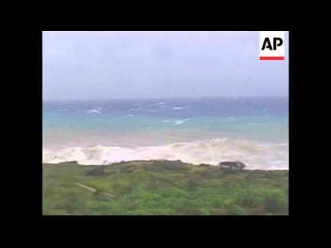 Edge of Hurricane Dennis passes by Guantanamo Bay