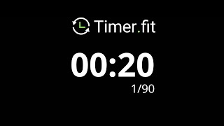 20 Second Interval Timer with 5 Seconds Rest
