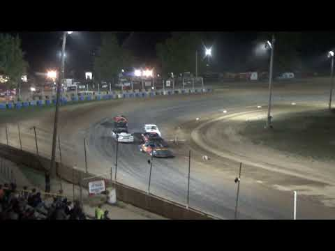 Street Stock Heat Race #1 at Crystal Motor Speedway, Michigan, on 09-16-2017!