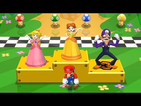 Mario Party 9 Garden Battle - Daisy vs Mario vs Peach vs Waluigi| Cartoons Mee