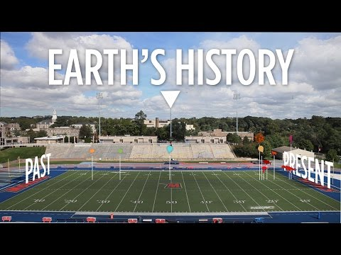 Earth's Entire History (Visualized On A Football Field)