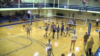 Spalding University vs Indiana University Southeast Volleyball Highlights (9-9-14)