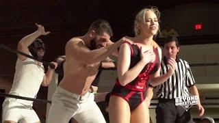 Download [FREE MATCH] Penelope Ford Jordynne Grace Maria Manic v. Pull-It Club | Beyond Wrestling Intergender Mp3 and Videos