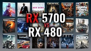 RX 5700 vs RX 480 Benchmarks  Gaming Tests Review and Comparison  53 tests
