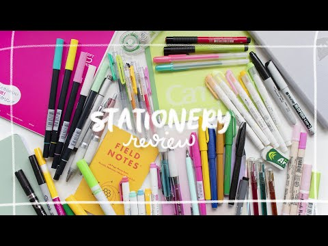 reviewing my entire stationery collection ⭐ the best & worst school supplies