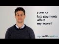 How do late payments affect my credit score?