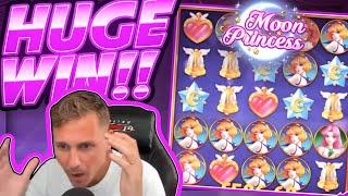 HUGE WIN!!! Moon Princess BIG WIN!! Casino Games from CasinoDaddy Live Stream