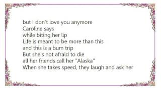 Human Drama - Caroline Says II Lyrics