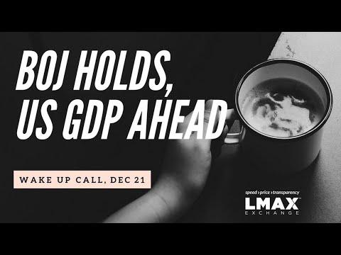 BOJ Holds, US GDP Readings Due