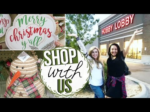 SHOP WITH ME 2017 | CHRISTMAS DECOR SHOPPING AT HOBBY LOBBY WITH LOVE MEG!! | Page Danielle