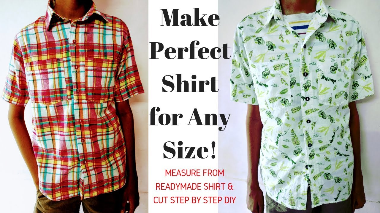 Take Measurements From Ready Made Shirt Cut Fabric For Any Size