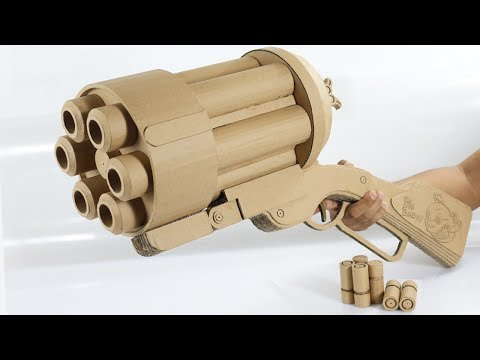 Amazing Big Baby Gun   How To Make Cardboard Gun Shoots