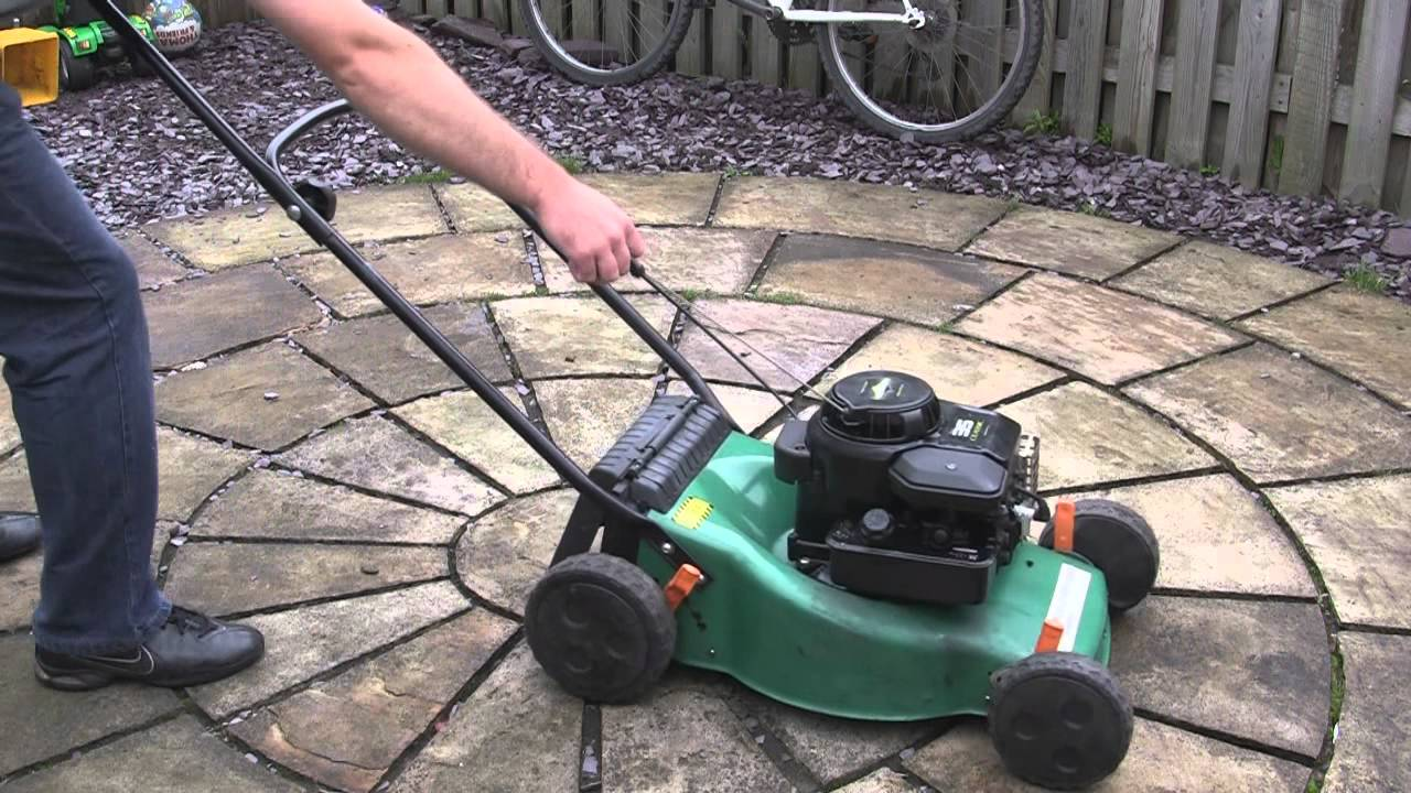 performance power petrol lawnmower test review youtube. Black Bedroom Furniture Sets. Home Design Ideas