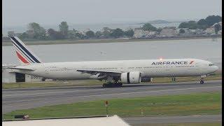 Air France Boeing 777-300ER [F-GSQE] landing in BOS