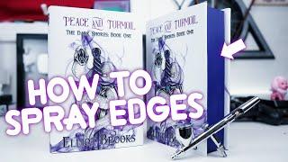 How To Spray Book Edges, DIY