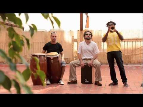 Freestyle  de trompeta, congas y cajón flamenco