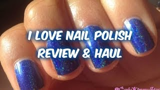 REVIEW / HAUL: I Love Nail Polish - CurlyKimmyStar Thumbnail