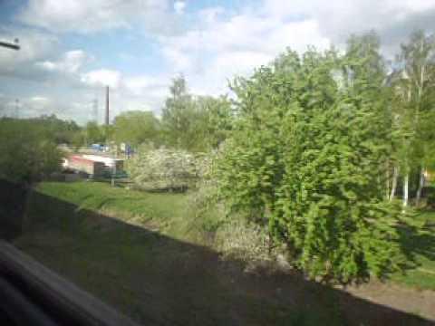 вид из окна поезда Москва савеловская --- Дмитров