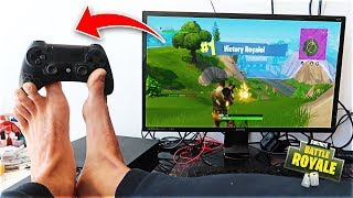 This Kid Won A Game Of Fortnite Using His FEET (not clickbait)