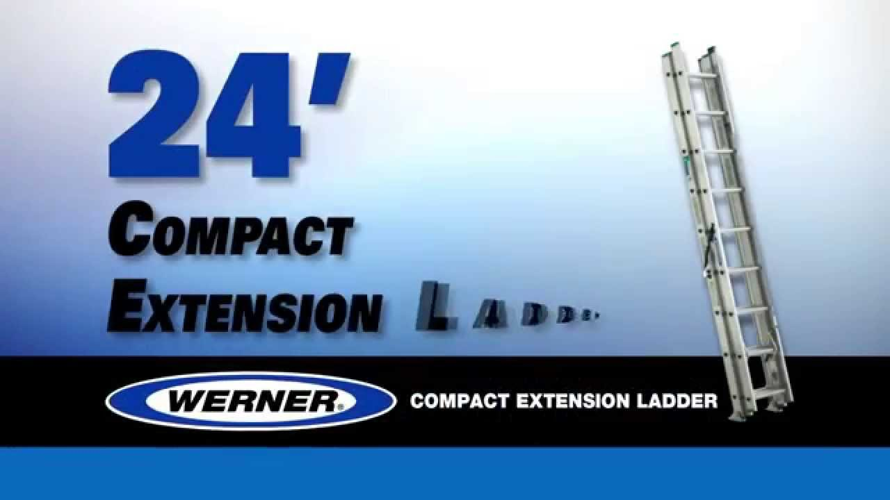 Werner Ladder 24 Ft Aluminum Compact Extension Ladder