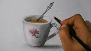 Draw a Cup of Coffee with Spoon