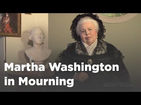 Martha Washington in Mourning
