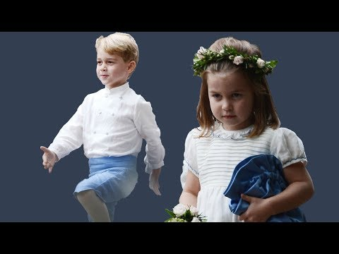 Princess Charlotte and Prince George stole the  at yet another wedding