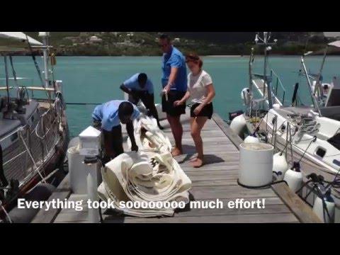 Sailboat Gooseneck Repair in Antigua (Video 50) - Sailing Britican