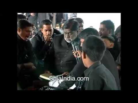 Syed Murtuza Hussain Reciting a marsiya at paril mahal 7th muharram 2013