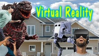 Wackey World Virtual Reality Episode 1 Godzilla, Star War, Ufos, Zombies,Tigers, invade Neighborhood