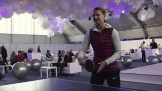 Lucie Šafářová - rozhovor při ping pongu