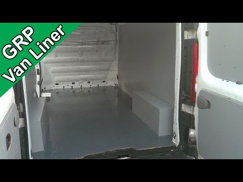 Fibreglass A Van Or Truck Floor Grp Bed Liner Youtube