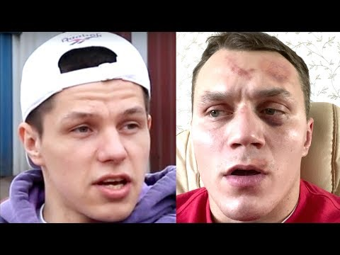 Регбист Vs Тарасов Драка на улице на голых кулаках! Приводи двоих человек на бой
