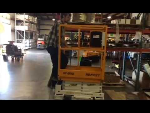 HB-P1027: Push-Around Scissor Lifts Make It Easy To Put 'Ladders Last'