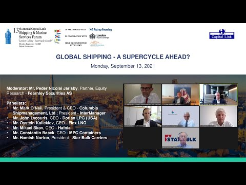 2021 13th Annual Shipping & Marine Services Forum - Global Shipping - A Supercycle Ahead?
